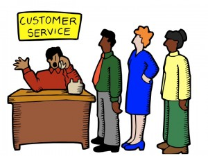 Waiting for service; not what a customer expects