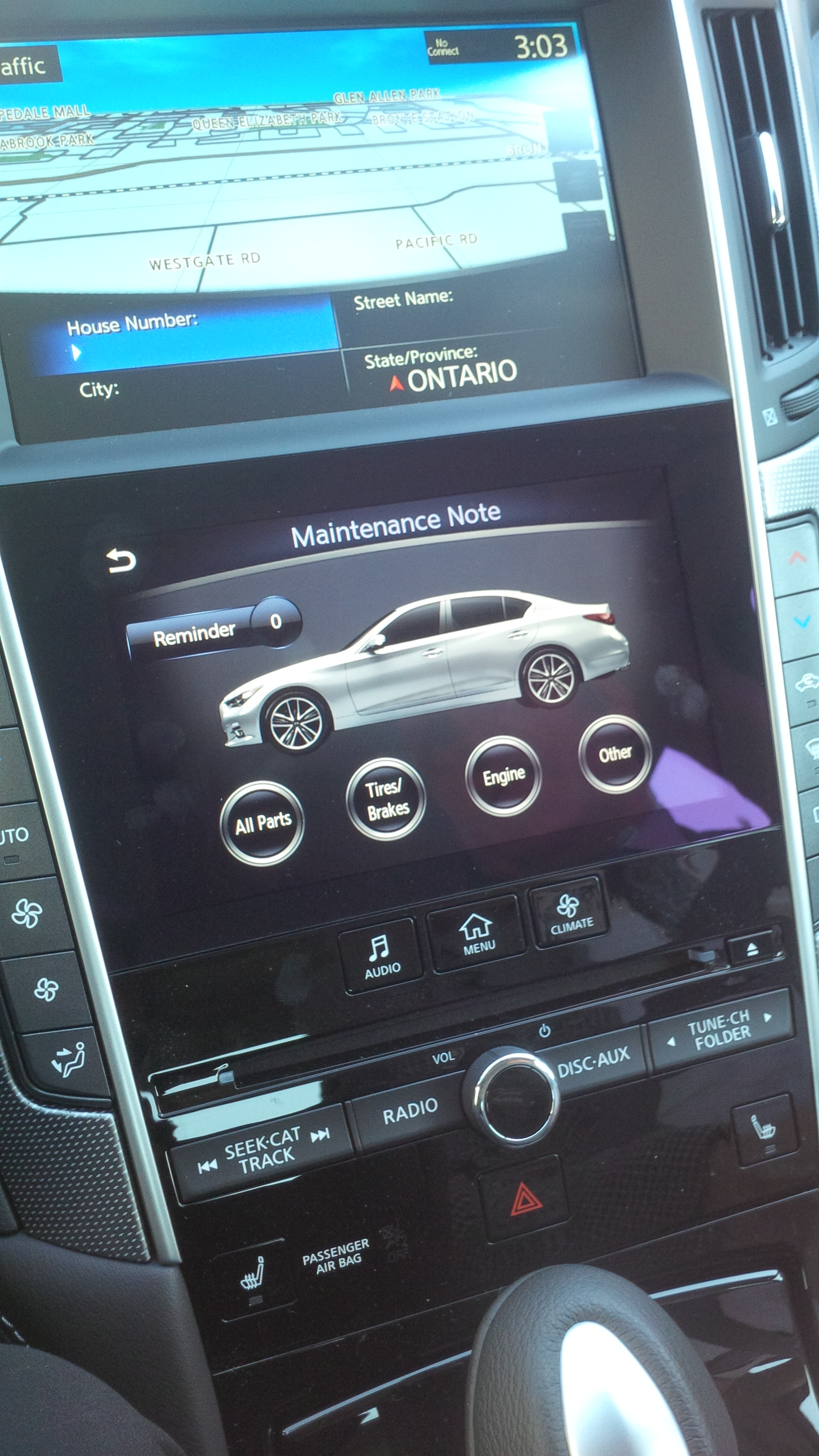 Oil Reset » Blog Archive » 2014 Infiniti Q50 Maintenance