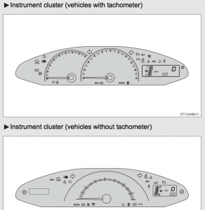 2009 Toyota Yaris Instrument Clusters