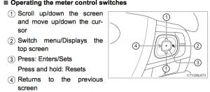 Using the Multi-Info Display