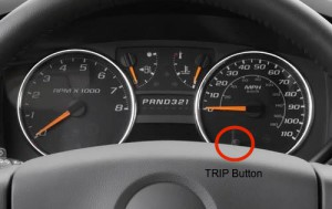 2012 GMC Canyon TRIP button