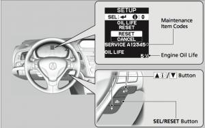 2015 Acura ILX Maintenance Minder