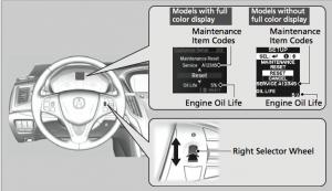 2015 Acura TLX Maintenance Minder Reset