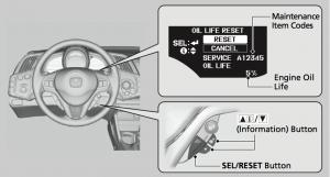 2015 Honda CR-Z SEL:RESET Button
