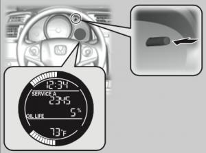 2015 Honda Fit SELECT/RESET Button