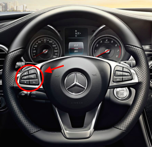 Oil reset blog archive 2015 mercedes c class service for Mercedes benz steering wheel control buttons