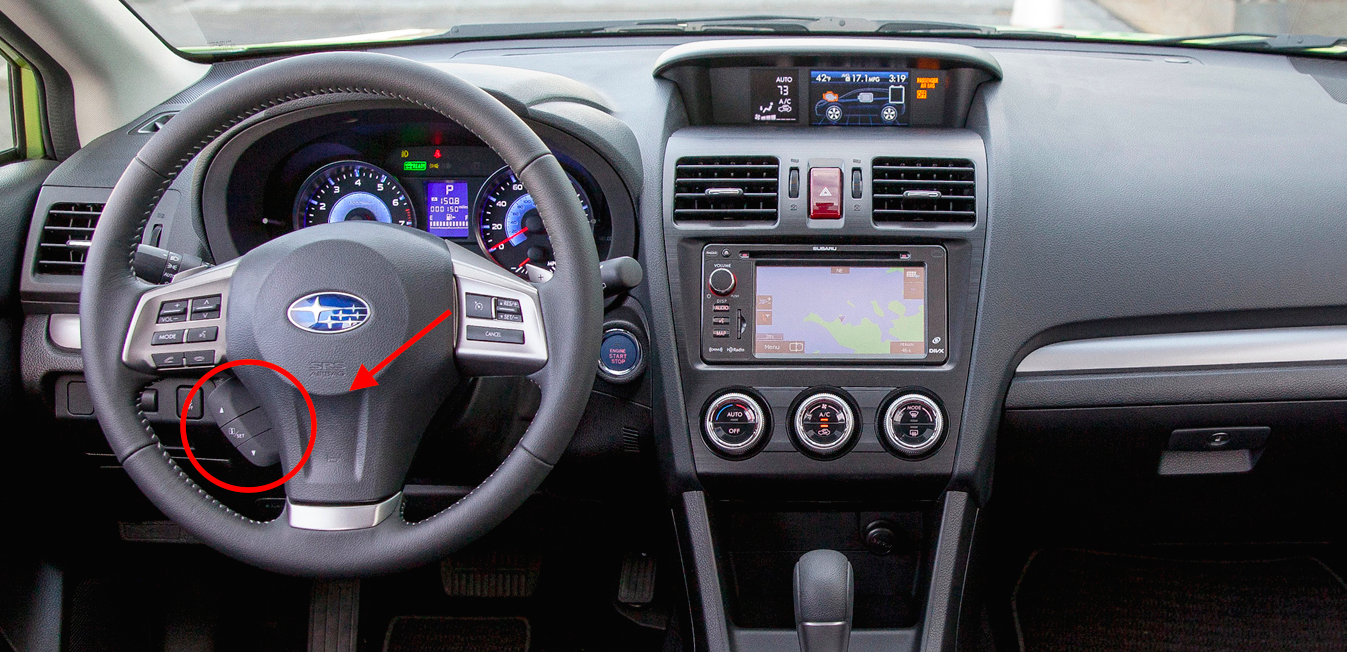 2017 Subaru Xv Crosstrek Steering Wheel Controls