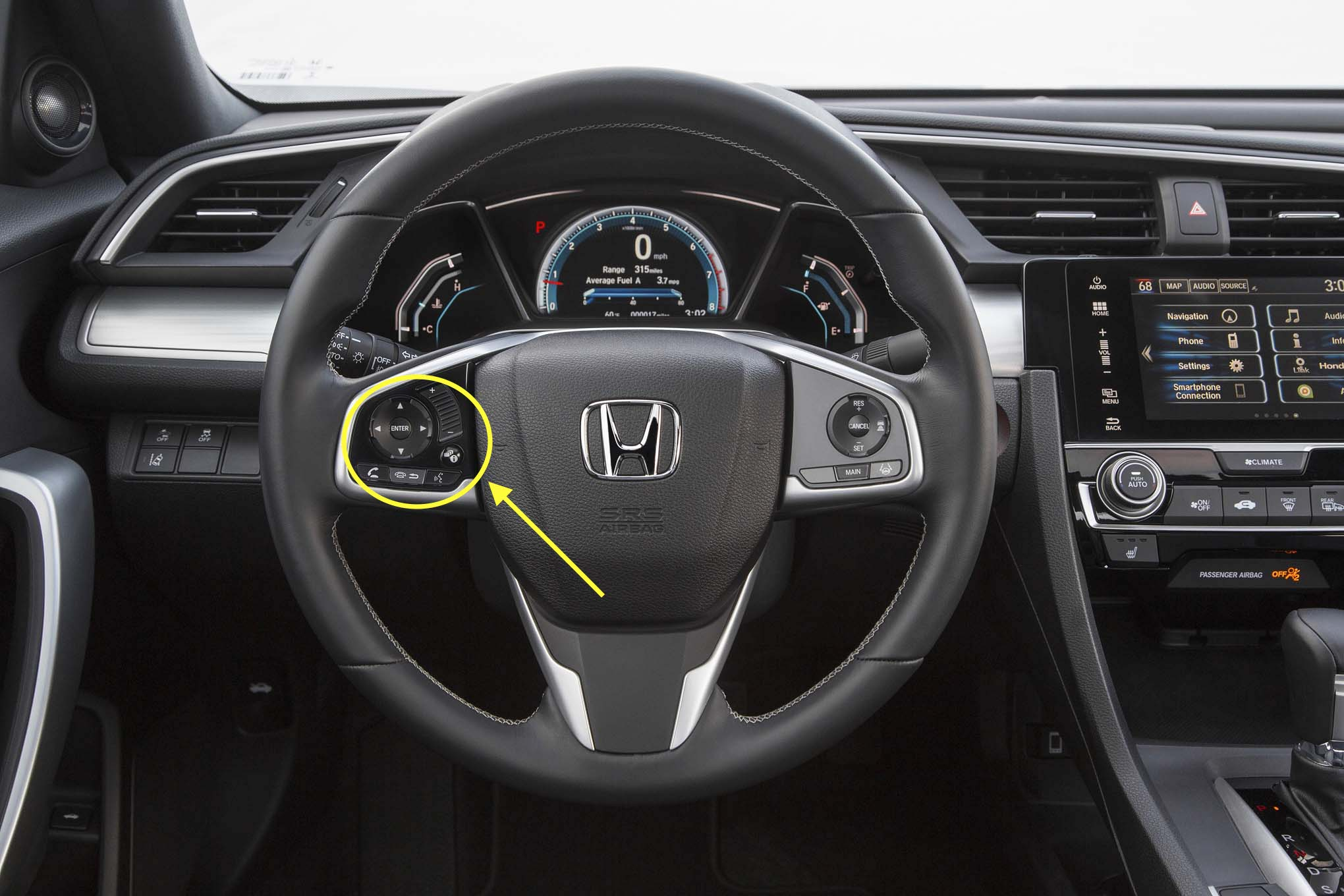 2017 Honda Civic Steering Wheel Controls